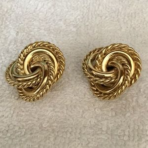 Givenchy Gold-tone Knot Clip Earrings